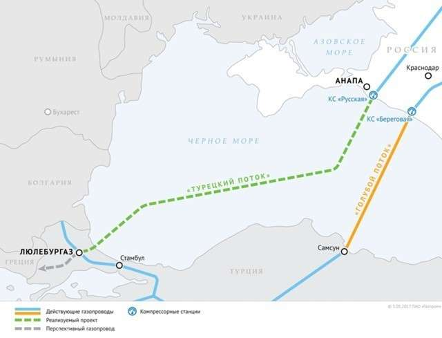 В Турции начали строить приемный терминал «Турецкого потока»