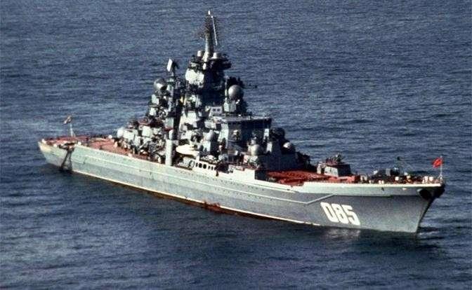 На фото: атомный ракетный крейсер «Адмирал Нахимов»