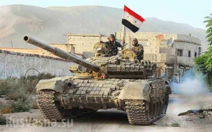 Сирия, Идлиб: танки Башара Асада рвутся вперёд, наёмники США бегут