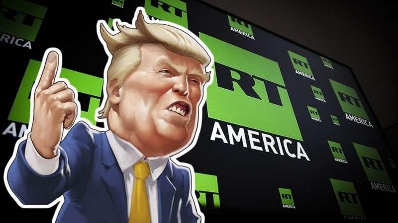 Дональд Трамп признал честность телеканала RT, не включив его в рейтинг «фейков года»