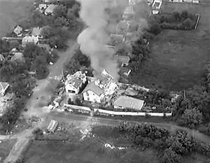 Донецк. Видео артиллерийского обстрела объектов карателей из ВСУ