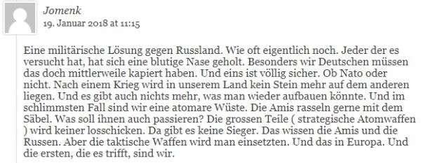 Немцы напомнили НАТО, что война с Россией – это самоубийство и они это помнят