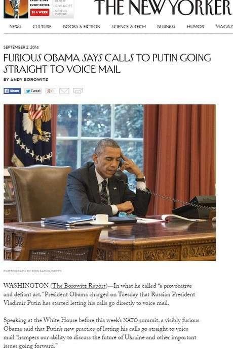 Обама общается с автоответчиком Путина