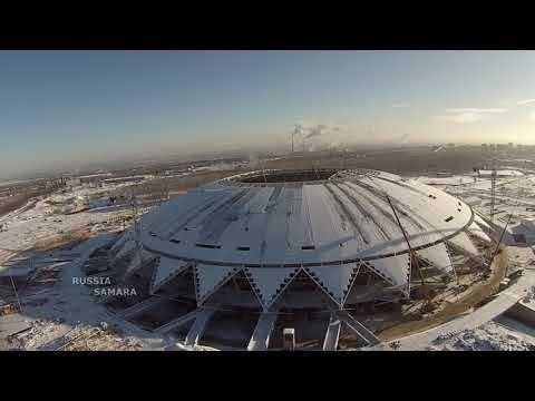 В Самаре продолжается строительство «Самара Арены» даже при температуре -20 градусов