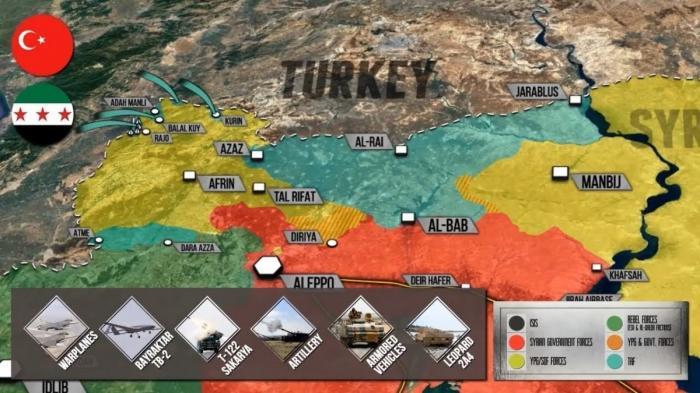 Африн, Сирии. Турецкая агрессия против курдов. Подробно