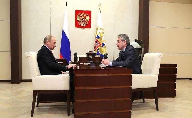 Спрезидентом Российской академии наук Александром Сергеевым.
