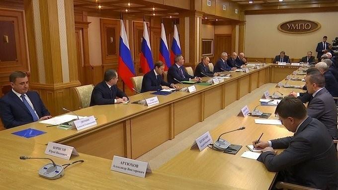 Владимир Путин провёл совещание по диверсификации производств оборонной промышленности