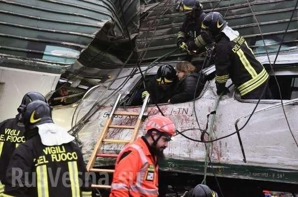 Крушение пассажирского поезда вИталии: сотни раненых, есть погибшие (ФОТО, ВИДЕО)   Русская весна
