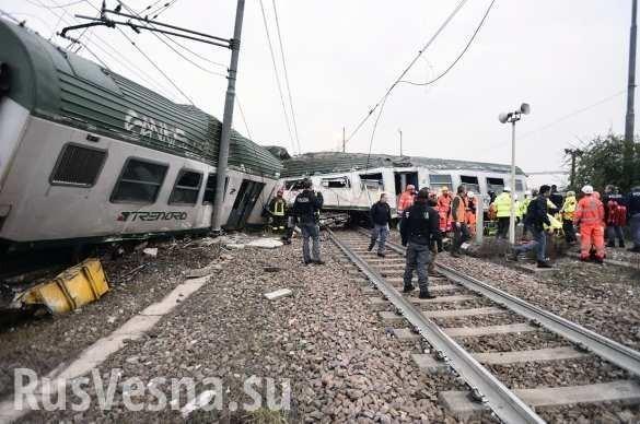 Италия. Крушение поезда: сотни жертв, есть погибшие