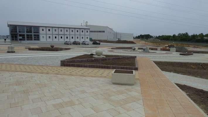 Завод по производству тротуарной плитки открылся в Каширском районе Подмосковья
