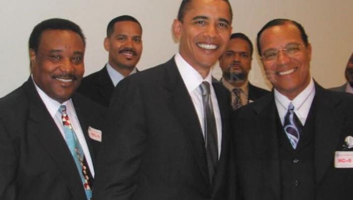 Фото Обамы с лидером негритянских радикалов выложили в сеть