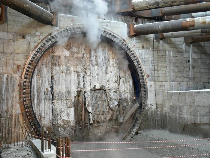 ВМоскве завершена проходка двухпутного тоннеля метро от Косино достанции Юго-Восточная