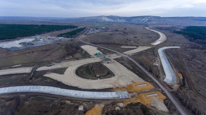 Трасса «Таврида» вКрыму построена уже начетверть