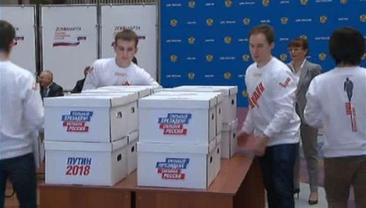 В ЦИК сданы листы с 315 тысячами подписей в поддержку В.В.Путина