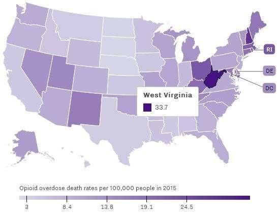 В США опиоидная эпидемия продолжает буйствовать и края не видно