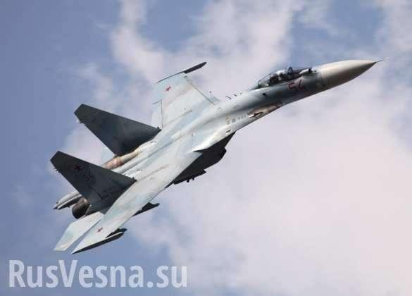 Как Су-27 испугал и отогнал разведчиков ВВС США | Русская весна