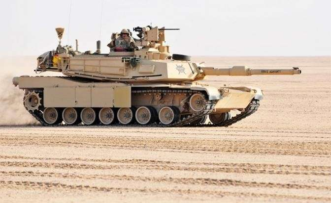 На фото: M1 Abrams — основной боевой танк США