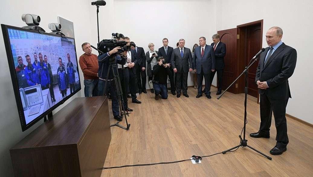 Владимир Владимир Путин дал старт работе нового энергоблока Ростовской АЭС