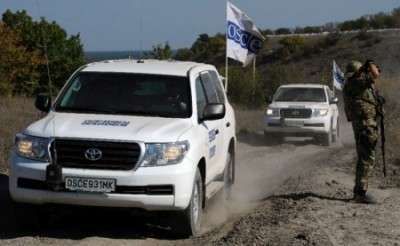 В Донецке сотрудник миссии ОБСЕ скрылся с места аварии