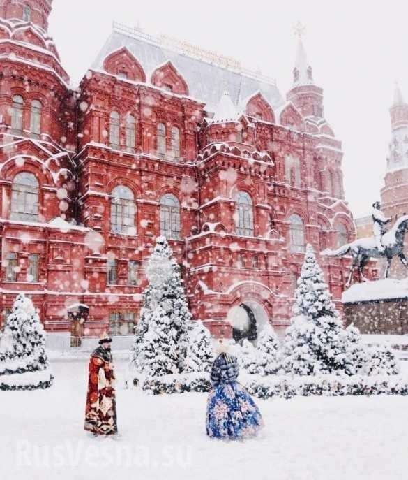 На Москву обрушился снегопад, который признали самым мощным за всю историю метеонаблюдений | Русская весна