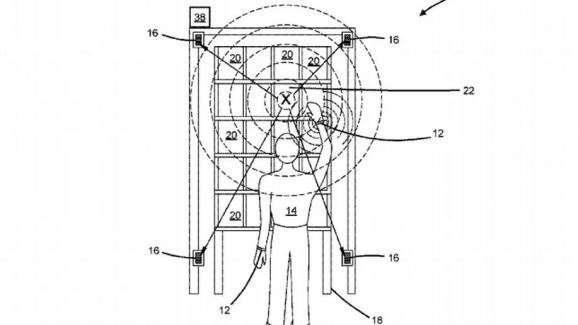 Schéma de l'utilisation du bracelet electronique développé par Amazon.