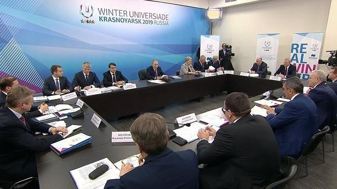 В Красноярске Владимир Путин провёл совещание повопросу проведения Универсиады-2019