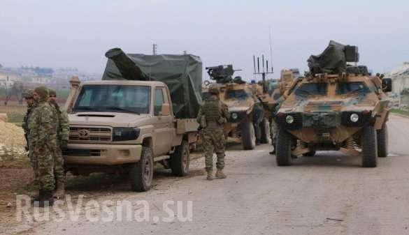 Большая колонна армии Турции вошла в Алеппо и была обстреляна сирийской артиллерией | Русская весна