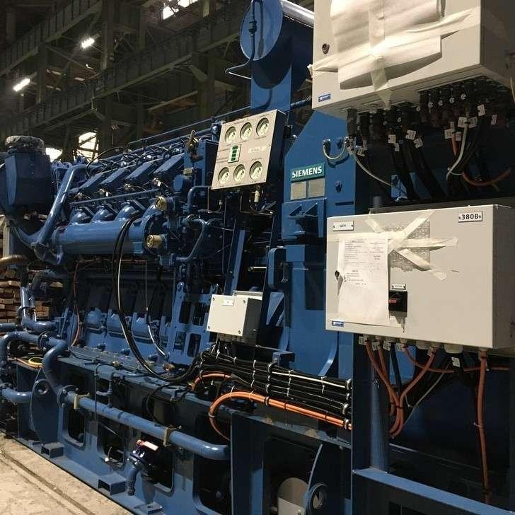 Дизель-генератор, вид сбоку