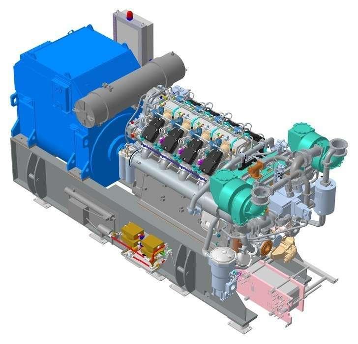 Модель судового дизель-генератора ZE1600KZ, которую «ЗВЕЗДА-ЭНЕРГЕТИКА» представила на Конкурс асов 3D-моделирования в 2016 году
