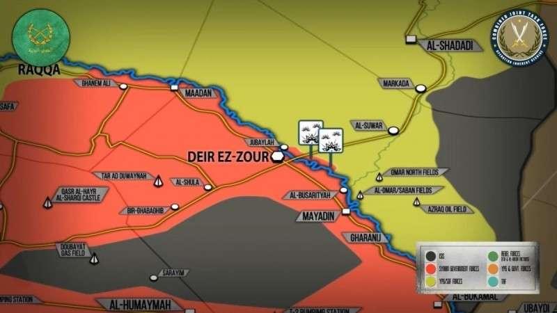 Сирия. США заявляют о гибели свыше 100 бойцов армии Башара Асада