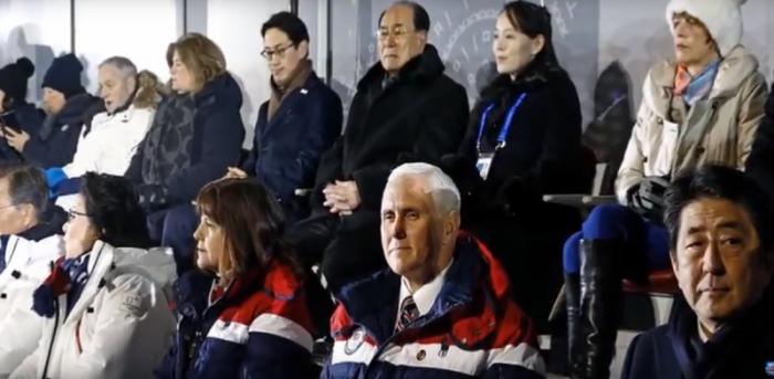 Две знаковые выходки вице-президента США Майка Пенса на Олимпиаде в Пхенчхане