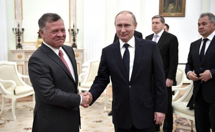 Владимир Путин принял в Кремле Короля Иордании Абдаллу II