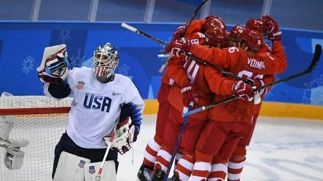 Хоккеисты сборной России одержали победу в матче Олимпийских игр-2018 над командой США