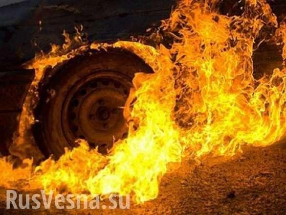 Петербург: экскаватор лего потушил горящий автомобиль | Русская весна