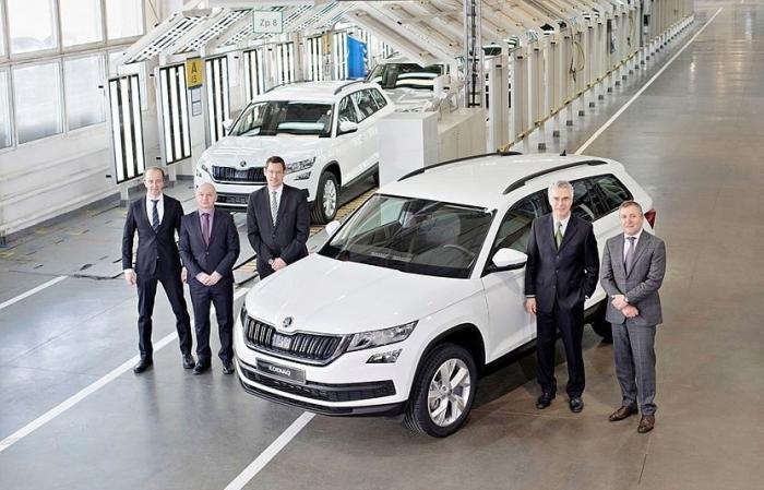 Над заводе «Группы ГАЗ» вНижнем Новгороде запустили сборку кроссовера Skoda Kodiaq