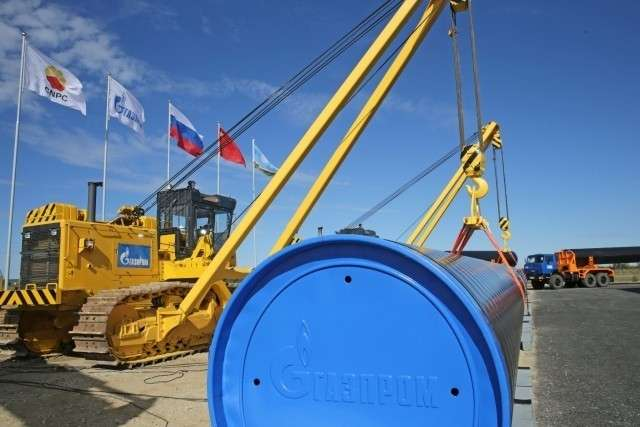 Сварка первого стыка газопровода «Сила Сибири», 1 сентября 2014 года