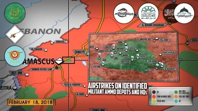 Сирия. Армия Башара Асада готовит наступление возле Дамаска и Африна