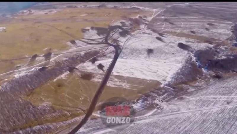 Видео последствий боев в «дебальцевском котле»