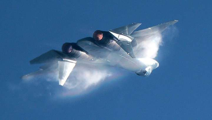Новейшие российские истребители Су-57 замечены на авиабазе Хмеймим