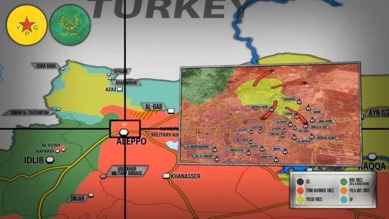 Сирия. Курды сдают армии Башара Асада часть районов Алеппо