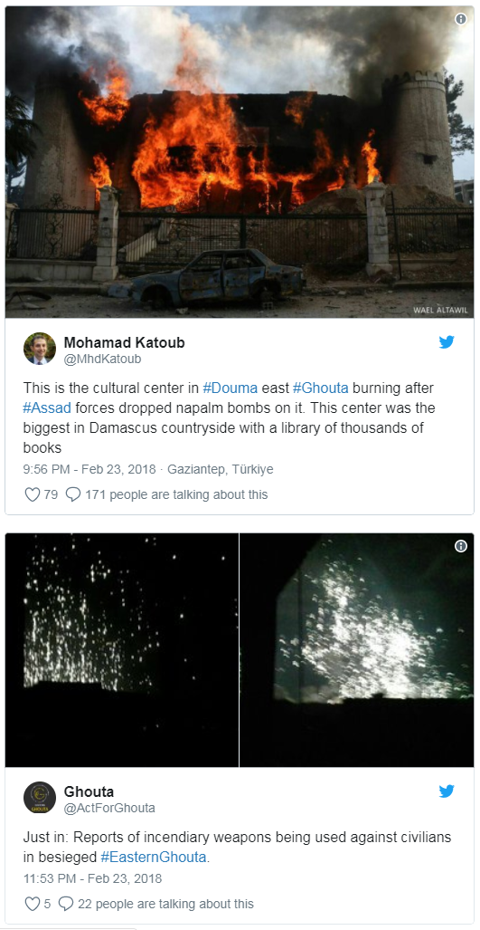 Сирия: интересная таки тема про истребление недругов в Восточной Гуте