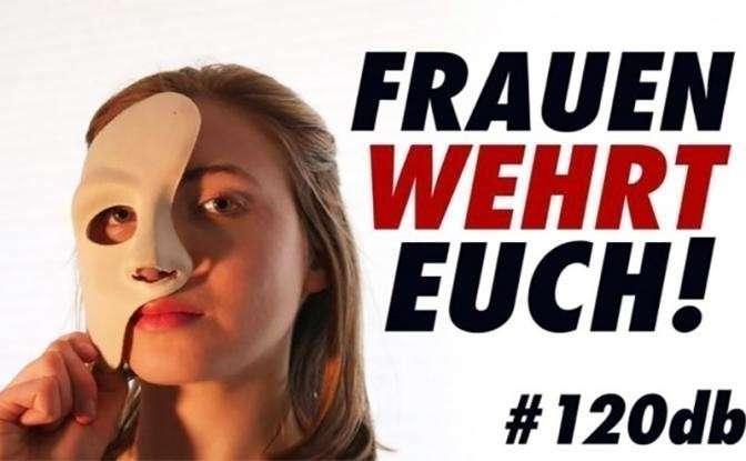 На фото: женское движение В Германии «120 Dezibel»