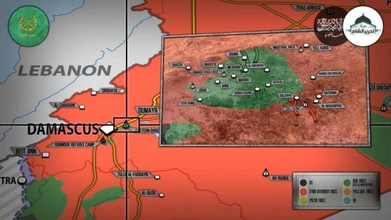 Сирия. наступление правительственной армии в Восточной Гуте