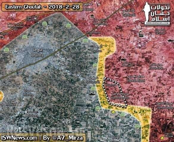 Сирия, Восточная гута: «Тигры» выбивают боевиков из пригородов Дамаска | Русская весна