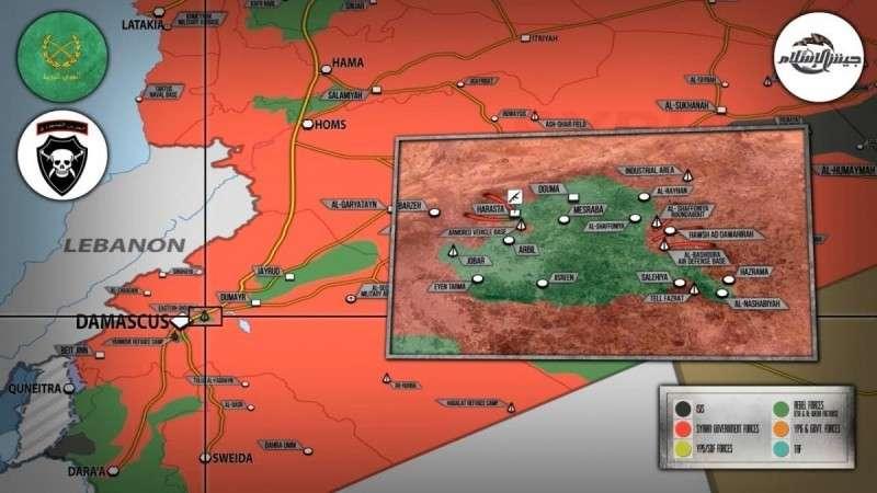 Сирия. Восточная Гута прогибает под ударами правительственной армии