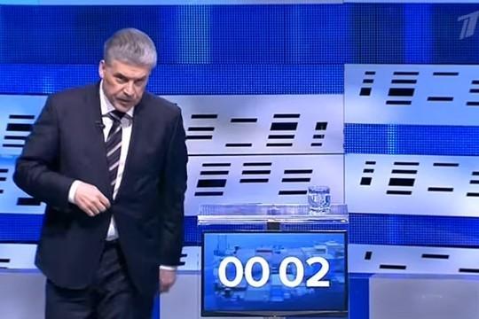 Бегство Павла Грудинина с дебатов затмило перебранку Жириновского и Собчак