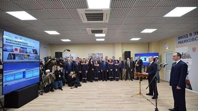 Президент дал старт работе двух ТЭС вКалининградской области