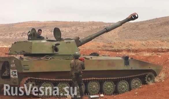 Сирия. Восточная Гута: армия проводит пропагандистскую артиллерийскую атаку   Русская весна