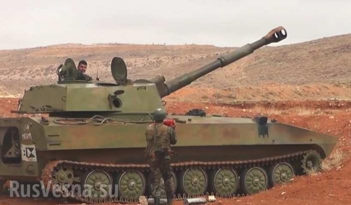 Сирия. Восточная Гута: армия проводит пропагандистскую артиллерийскую атаку
