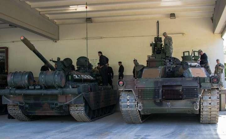 Румынские модернизированные советские танки Т-55 на учениях НАТО выбили американские Абрамсы
